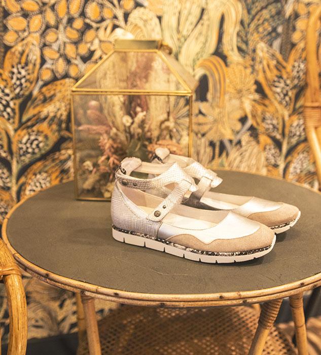Chaussures type ballerines Julien argentées
