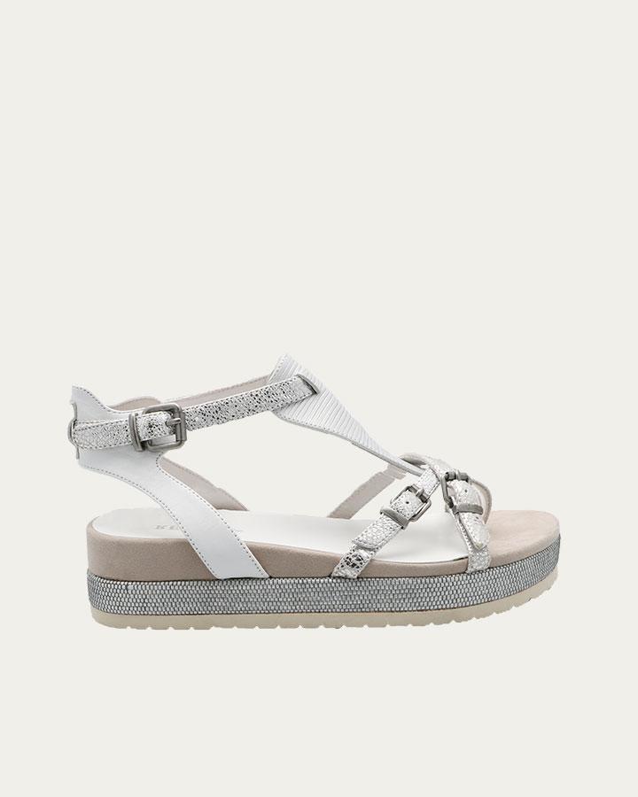 Sandale blanche Caen Regard Chaussures