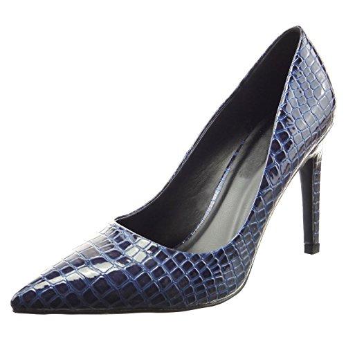 sopily chaussure mode escarpin stiletto cheville femmes peau de serpent verni talon haut. Black Bedroom Furniture Sets. Home Design Ideas