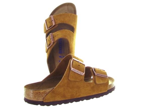 Birkenstock nu pieds arizona cuir jaune4599201_4