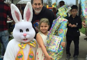 Winner with the Easter Bunny