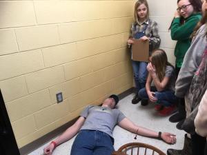 Emergency scenario role play for students