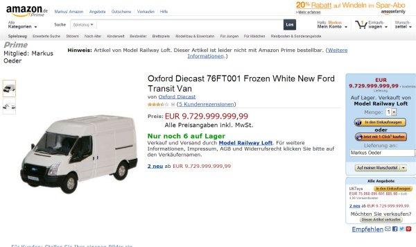 Oxford.Diecast.76FT001.Frozen.White.New.Ford.Transit.Van.fuer.9729999999.99.Euro