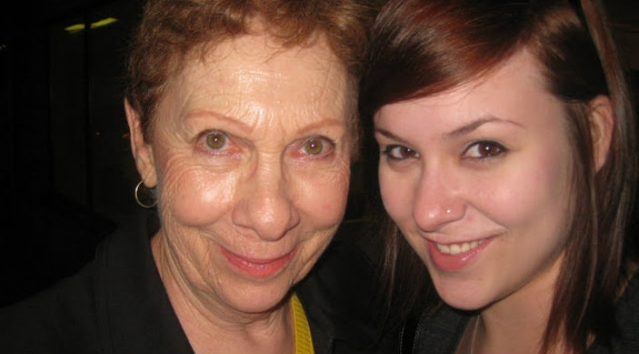 Selfie of the author with her grandmother