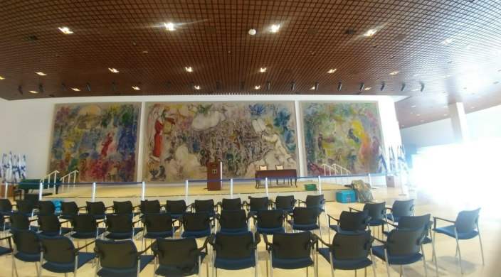 Marc Chagall's tapestries in Chagall Hall in the Knesset