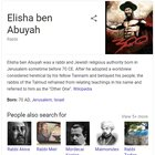 Google, I really doubt that this is what Elisha ben Abuyah (HaAcher) looked like