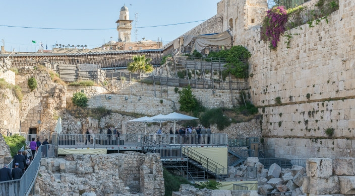 Egalitarian prayer space at the Kotel (Western Wall)