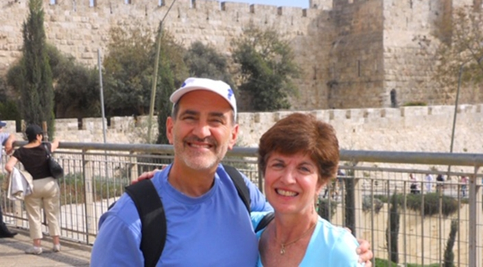 The authors, Karen and Marc Rivo, at the Western Wall in Jerusalem