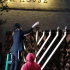 Night two! Menorah lighting at The Historic Pearl, San Antonio, Texas.