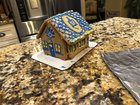 Chanukah sugar cookie house with my daughter