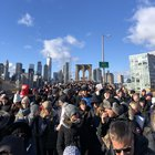 There were more Jews marching today over the Brooklyn bridge than I've ever seen in one place before.... even in Israel.
