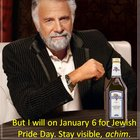 Jewish Pride Day (edited, you'd think I could get the date right, oy)