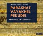 Parashat Vayahkel Pekudei - Excitement or Atonement?