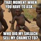 Do YOU know who your hametz is being sold to? (Pesahim28a , Tosefta Pesahim2:6, MT Hametz UMatza 4:6)
