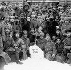 Jewish german soldiers celebrating Hanukkah in Poland 1916
