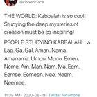 Choelentface on Kaballah June 23, 2020