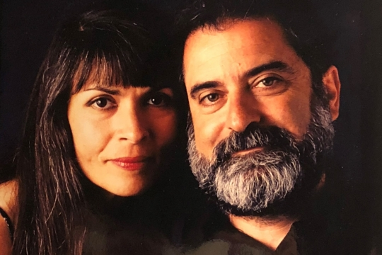 Professional close up portrait of the author and his wife in the 1970s