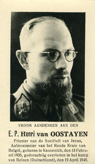 Catholicism vs Nazism! 76 years ago this day Nazis executed Belgian Jesuit priest Henri van Oostayen, chaplain of the Red Cross. He helped another priest to conceal Jewish boys at Sint-Jan Berchmanscollege in Brussels. In that action, he defied the Nazis and risked his life to save Jews.