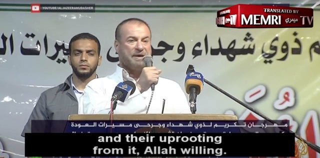 """Hamas Official Urges People to """"Cut Off the Heads of Jews"""""""