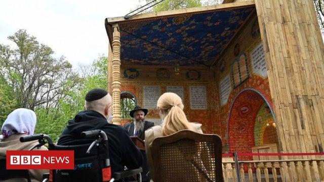 Holocaust: Synagogue opens at Nazi massacre site in Ukraine