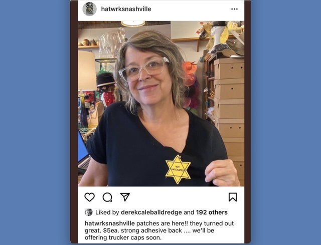 TN Store Owner Sells Yellow Stars That Say 'Not Vaccinated'