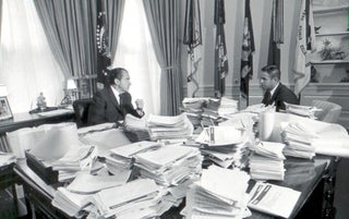 """In July 1971, American president Richard Nixon removed officials with """"Jewish-sounding"""" surnames from the Bureau of Labor Statistics"""