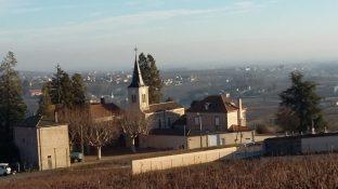 Vue depuis le cimetière d'Arbuissonnas