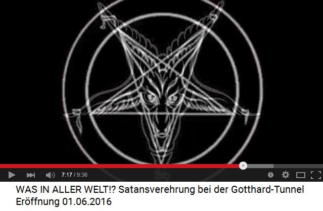 Der Steinbock ist das Symbol für den satanistischen Fünfzackstern der Satanisten-Hexerei