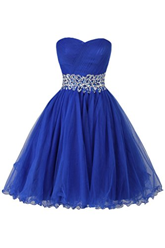 Ellames Sweetheart Homecoming Beading Short Prom Dresses Ball Gown ...