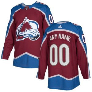 Men's Colorado Avalanche adidas Burgundy Authentic Custom Jersey