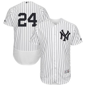 Men's New York Yankees Gary Sanchez Majestic Home White Authentic Collection Flex Base Player Jersey