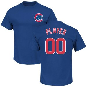 Youth Chicago Cubs Majestic Royal Custom Roster Name & Number T-Shirt