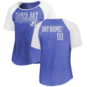 Women's Tampa Bay Lightning Fanatics Branded Blue Personalized Assist Tri-blend T-Shirt