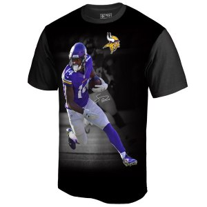 Men's Minnesota Vikings Stefon Diggs NFL Pro Line by Fanatics Branded Black NFL Player Sublimated Graphic T-Shirt