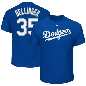 Men's Los Angeles Dodgers Cody Bellinger Majestic Royal Big & Tall Player Name & Number T-Shirt