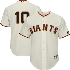 Men's San Francisco Giants Evan Longoria Majestic Cream Official Team Cool Base Player Jersey