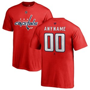 Youth Washington Capitals Fanatics Branded Red Personalized Team Authentic T-Shirt