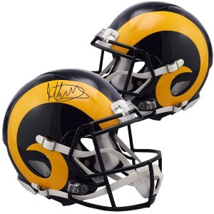 Autographed Los Angeles Rams Todd Gurley II Fanatics Authentic Speed Throwback Replica Helmet