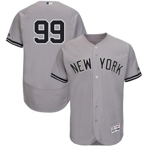 Men's New York Yankees Aaron Judge Majestic Gray Authentic Collection Road Flex Base Player Jersey
