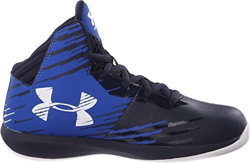 Under Armour Boy's Jet Basketball Shoes PS Team Royal/Midnight Navy/White Size 1 M US Corona, California
