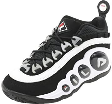 Fila Men's Bubbles Hightop White/Black/Red Basketball Shoes Glendale, California