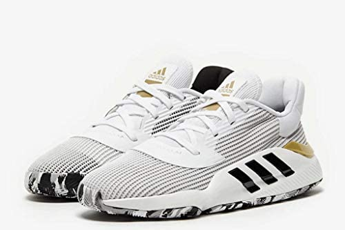 adidas Pro Bounce 2019 Low White/Black/Gold Basketball Shoes (EF0472) Pembroke Pines, Florida