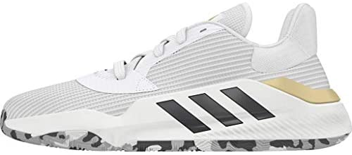 adidas Pro Bounce 2019 Low White/Black/Gold Basketball Shoes (EF0472) Pembroke Pines, Florida