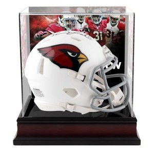 Autographed Arizona Cardinals David Johnson Fanatics Authentic Riddell Speed Mini Helmet with Deluxe Mini Helmet Case