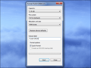 To format a USB Flash Drive to FAT32 in Windows follow the next steps: