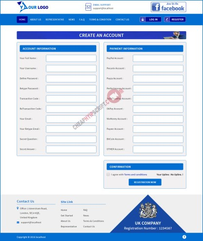 Register page
