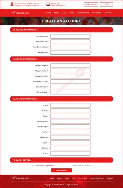 Register page templates