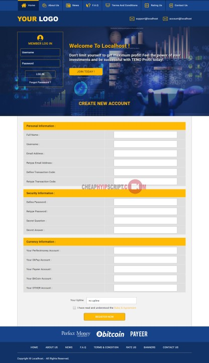 hyip website for sale