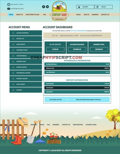 goldcoders hyip template free