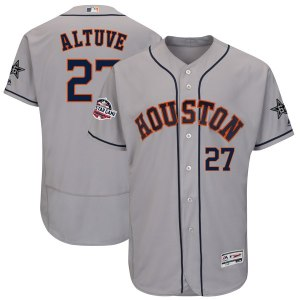 Men's Houston Astros Jose Altuve Majestic Gray 2018 MLB All-Star Game Authentic Flex Base Player Jersey